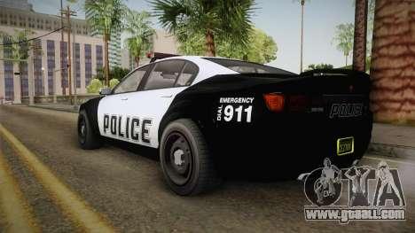 GTA 5 Cheval Fugitive Police IVF for GTA San Andreas back left view