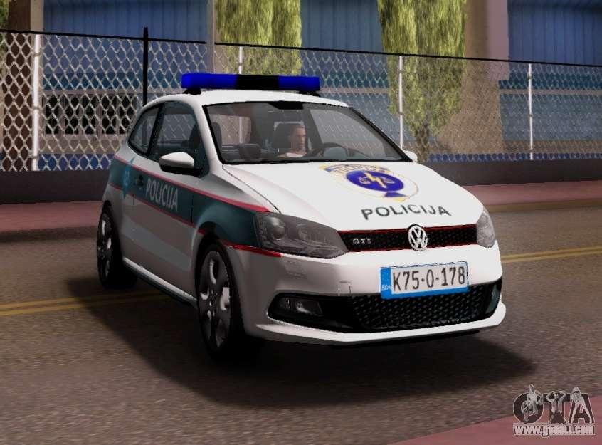 volkswagen polo gti bih police car for gta san andreas. Black Bedroom Furniture Sets. Home Design Ideas