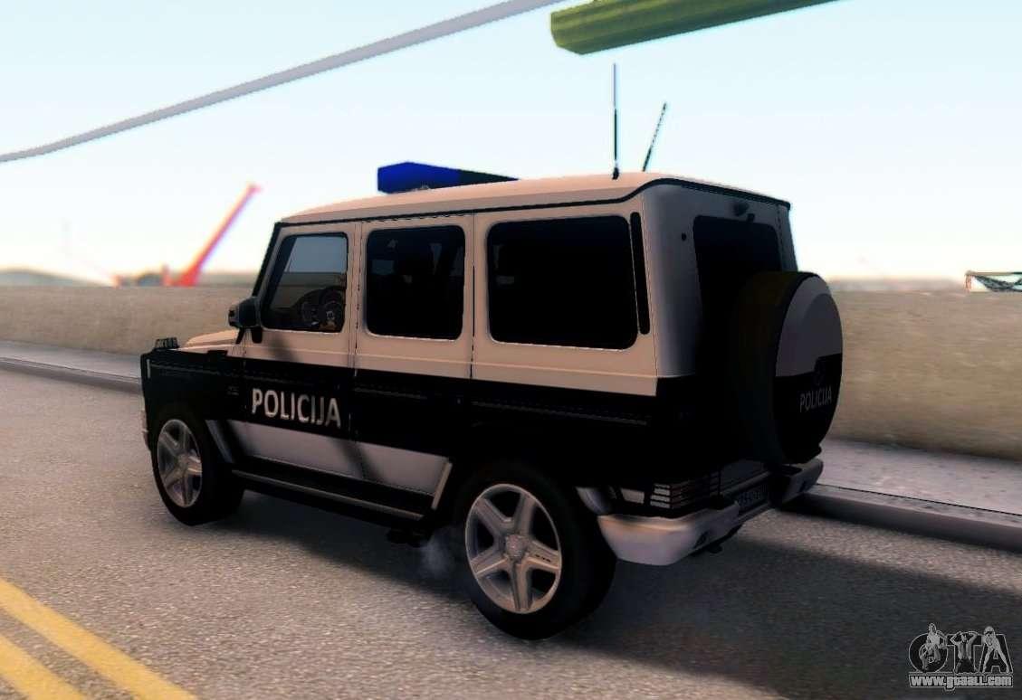 Mercedes Benz G65 Amg Bih Police Car For Gta San Andreas