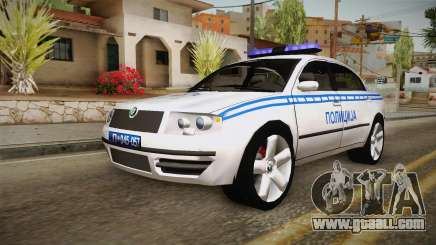 Skoda Superb Serbian Police v2 for GTA San Andreas