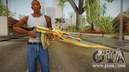 Cross Fire - AK-47 Beast Noble Gold v1 for GTA San Andreas