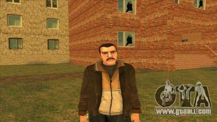 Mustachioed Nico for GTA San Andreas