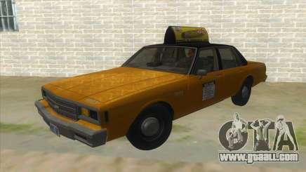 Chevrolet Impala Taxi 1985 for GTA San Andreas