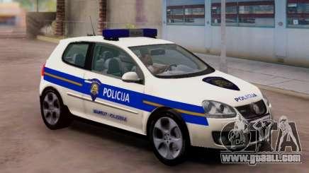 Golf V Croatian Police Car for GTA San Andreas