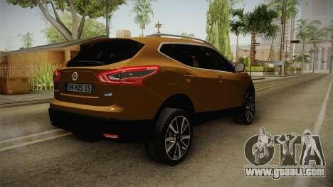 Nissan Qashqai 2016 HQLM for GTA San Andreas back left view