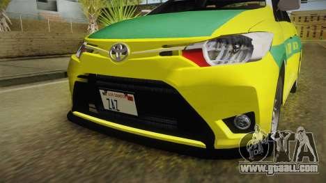 Toyota Vios Sturdy Philippine Taxi 2014 for GTA San Andreas side view