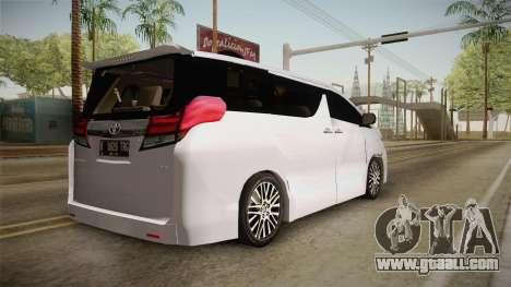 Toyota Alphard 3.5G 2015 v2 for GTA San Andreas left view