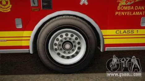 GTA 5 Firetruck Malaysia for GTA San Andreas back view