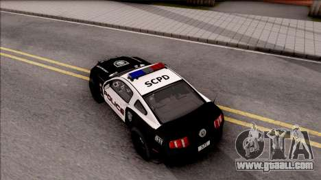 Ford Mustang GT High Speed Police for GTA San Andreas back view