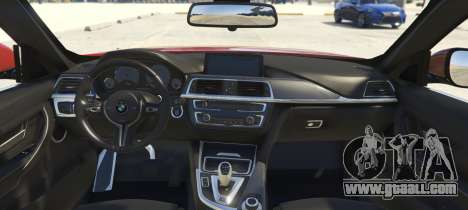 GTA 5 BMW 335i Sedan rear left side view