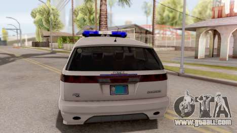 Dinka Perennial MPV Hometown PD 2010 for GTA San Andreas back left view