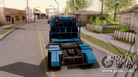 MAZ 509А Timber for GTA San Andreas back left view