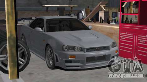 Nissan Skyline R34 Z-tune for GTA San Andreas back left view