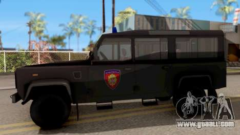 Land Rover Defender Gendarmerie, Which for GTA San Andreas left view