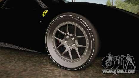 Ferrari 488 Tuned for GTA San Andreas back view