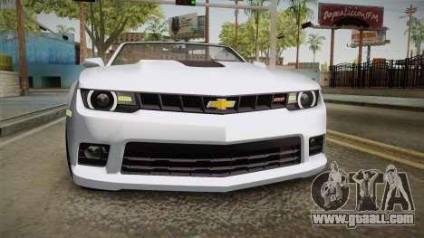 Chevrolet Camaro Convertible 2014 for GTA San Andreas side view