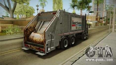 GTA 5 Jobuilt Trashmaster 2 IVF for GTA San Andreas back left view