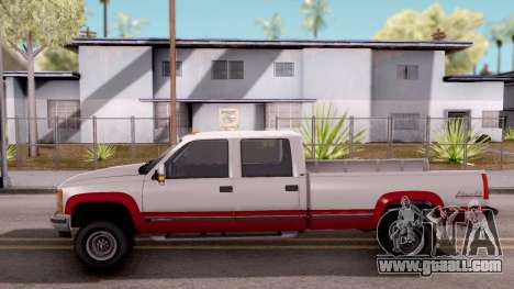 Chevrolet K3500 Silverado Crew Cab 1994 for GTA San Andreas left view