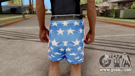 USA Shorts for GTA San Andreas third screenshot