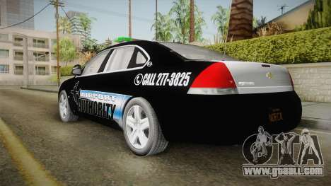 Chevrolet Impala 2009 Airport Authority for GTA San Andreas