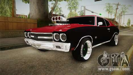 Chevrolet Chevelle SS 1970 Drag Racing Tuned for GTA San Andreas