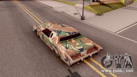 New Paintjob for Remington v3 for GTA San Andreas back view