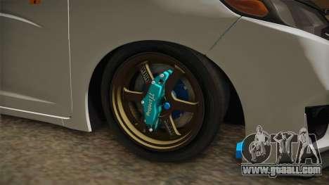 Honda Jazz GK FIT RS v2 for GTA San Andreas back view