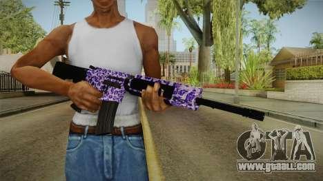 Tiger Violet M4 for GTA San Andreas third screenshot