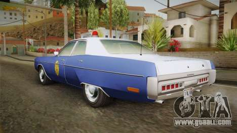 Plymouth Fury 1969 Kansas State Police for GTA San Andreas left view