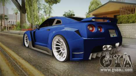 Nissan GT-R R35 NFSUC Tuning for GTA San Andreas left view