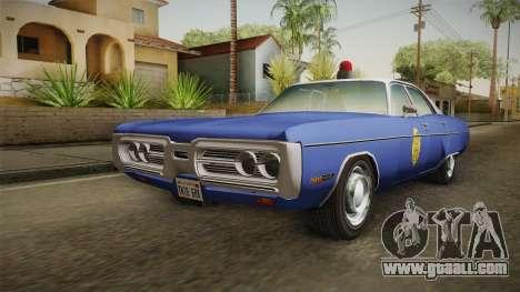 Plymouth Fury 1969 Kansas State Police for GTA San Andreas