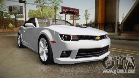 Chevrolet Camaro Convertible 2014 for GTA San Andreas right view