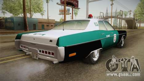 Plymouth Fury I NYPD for GTA San Andreas left view