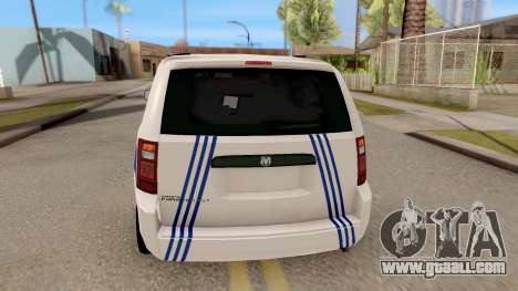 Dodge Grand Caravan Turkish Police for GTA San Andreas back left view