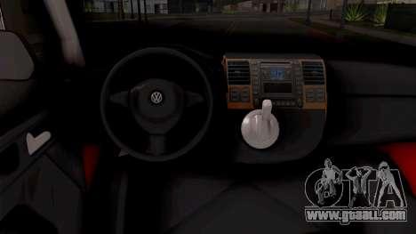 Volkswagen Transporter T5 Vatrogasci for GTA San Andreas inner view