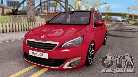 Peugeot 308 2016 for GTA San Andreas