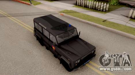 Land Rover Defender Gendarmerie, Which for GTA San Andreas right view