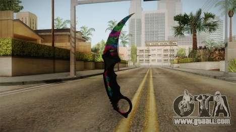 MistakeArt Karambit for GTA San Andreas third screenshot