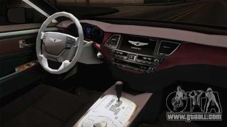 Hyundai Genesis 2016 for GTA San Andreas inner view