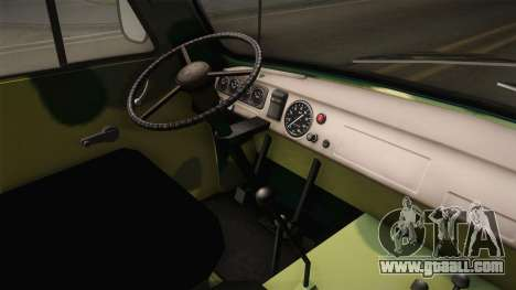 UAZ-452 Loaf Off Road for GTA San Andreas inner view