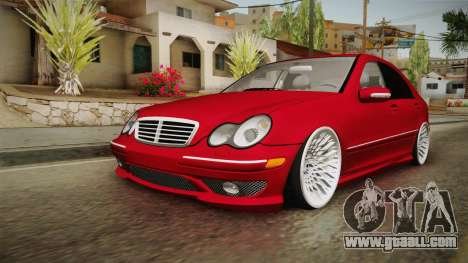 Mercedes-Benz C32 AMG Stanced for GTA San Andreas