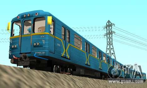 Metrostav type Eat Kyiv for GTA San Andreas