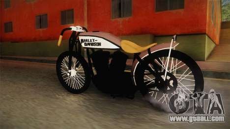 Harley-Davidson V Twin Racer 1916 for GTA San Andreas back left view