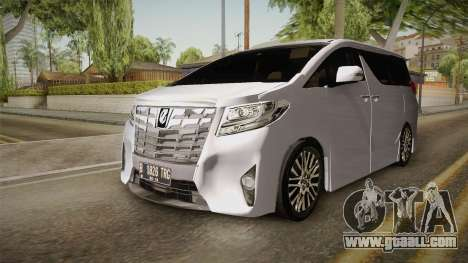 Toyota Alphard 3.5G 2015 v2 for GTA San Andreas right view
