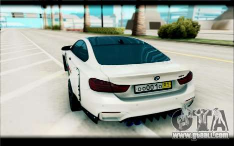 BMW M4 Perfomance for GTA San Andreas back view