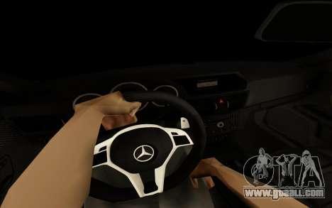 Brabus S63 for GTA San Andreas inner view