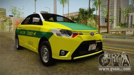 Toyota Vios Sturdy Philippine Taxi 2014 for GTA San Andreas back left view