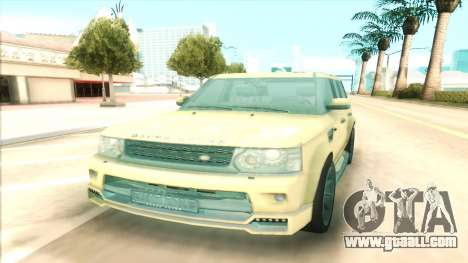 Range Rover Arden Design for GTA San Andreas back view