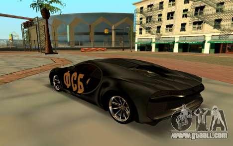 Bugatti Chiron FSB for GTA San Andreas back left view