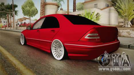 Mercedes-Benz C32 AMG Stanced for GTA San Andreas left view